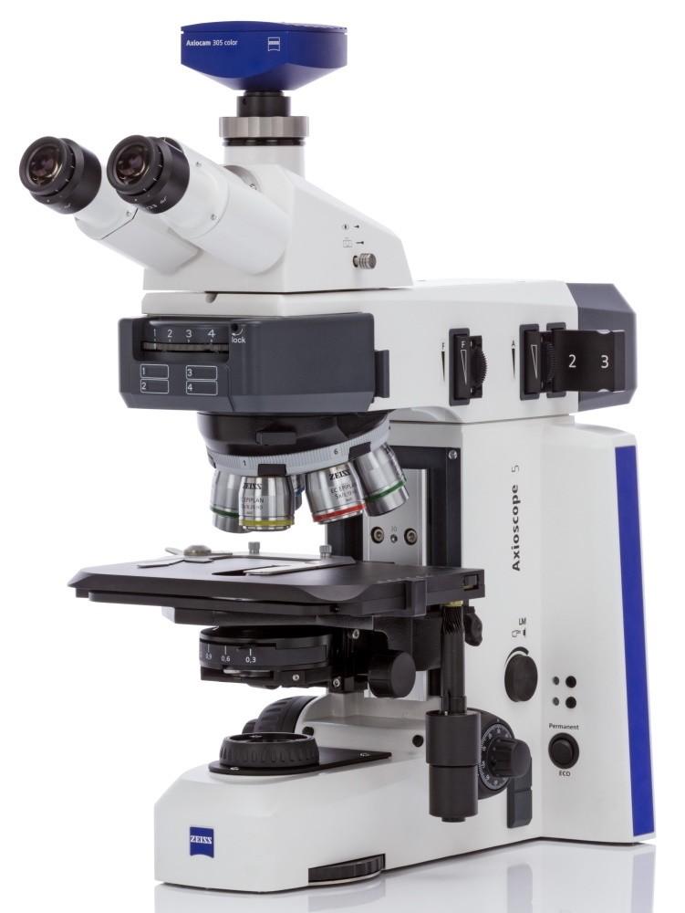 Axioscope 5 MAT seitliche Ansicht mit Zeiss Kamera 305 color