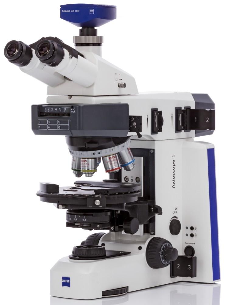 Zeiss Axioscope 5 Polarisation seitlich