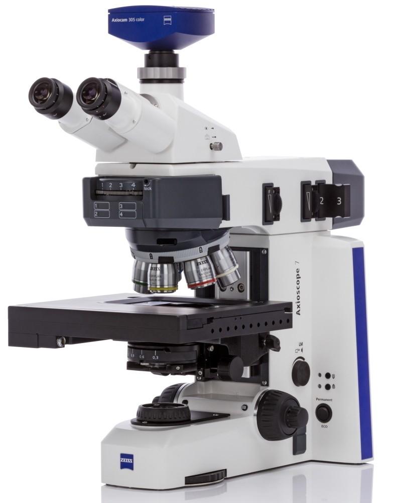 Zeiss Axioscope 7 seitlich mit Zeiss Kamera 305 color