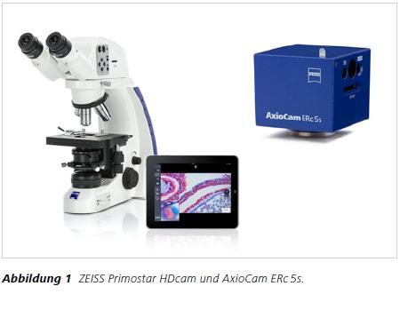 Abbildung 1 ZEISS Primostar HDcam und AxioCam ERc 5s