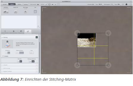 Abbildung 7 Einrichten der Stitching-Matrix