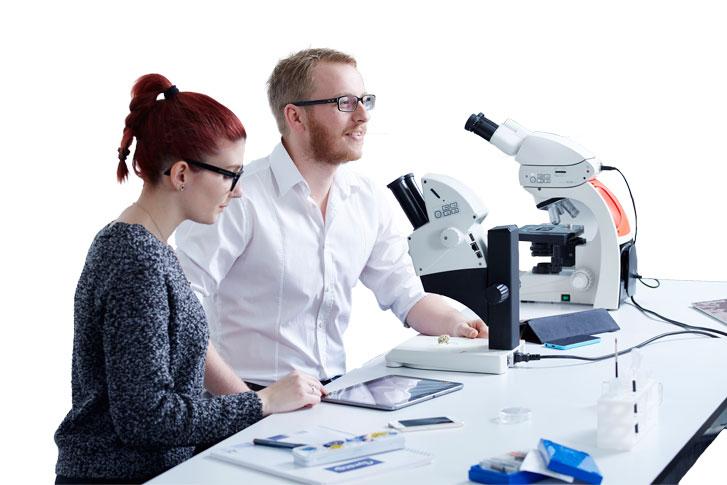 Mikroskop Seminarteilnehmer